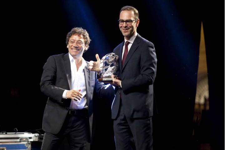 Flavio Natalia premia Massimiliano Tarantino