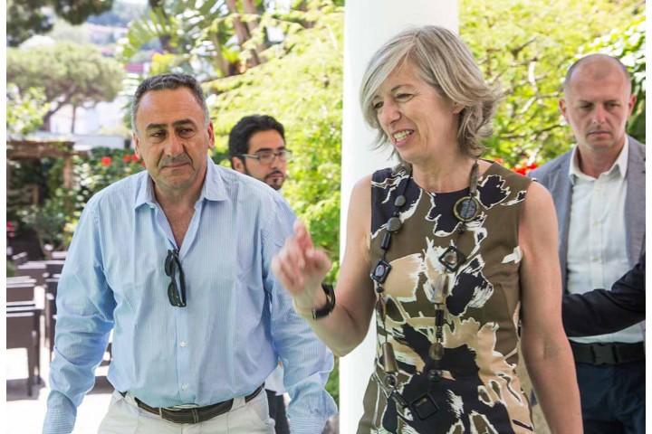 L'arrivo del Ministro Giannini